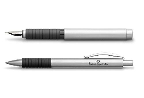 Faber-Castell Schreibset Füller + Kugelschreiber BASIC Metall Matt