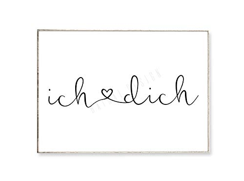 DIN A4 Kunstdruck Poster KLEINE BOTSCHAFT -ungerahmt- Typografie, Liebe, Schrift, Geschenk, Valentinstag, Jahrestag