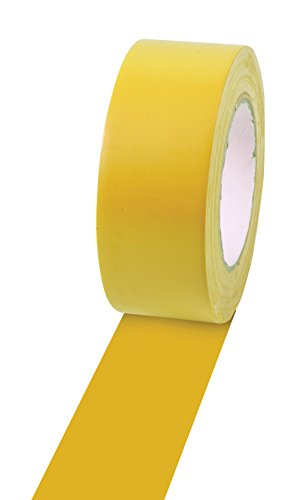 "Champion Sports Vinyl Tape, 2"" Wide x 60 Yards Long, Yellow - Durable Floor Marking Tape for Social Distancing, School, Gyms, Restaurants - Tough Floor Tape for Heavy Foot Traffic and Equipment"
