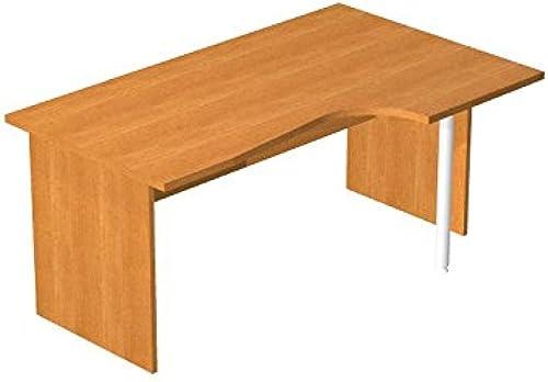 Ideapiu Schreibtisch mit Ausschnitt in Finish Wenge mit Struktur pannellata in Laminat Tischplatte Ausschnitt Seite DX Desk with Panel Legs 1600 00 800 1000 720h SP. Thick. 22