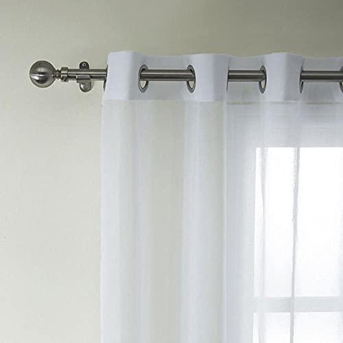 Cortinas transparentes de tul blanco sólido para la ventana Living om the Bedom, cortinas de tela de organza de tul moderno, 130 x 240 cm, 1 unidad, Federación Rusa, 2. GMMET (anillos)