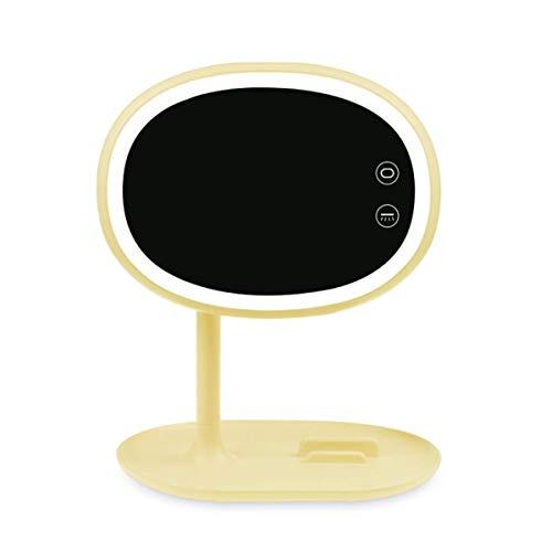JALAL Wiederaufladbare Nachttischlampe im Schlafzimmer Tab Tragbares USB-Nachtlicht mit bunter Atmosphärenlampe Anker Make-up-Spiegel Lade-LED-Tischlampe