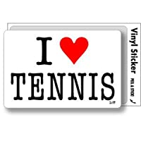 ILBT-040 アイラブステッカー I love TENNIS (テニス) ステッカー