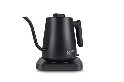 Caso 1877 Coffee Classic Kettle-Elektrischer Edelstahl-Innenraum, Hochwertiges matt schwarzes De Wasserkocher 18/8, 600 milliliters