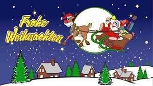 UB Fahne/Flagge Frohe Weihnachten Blau Weihnachtsfahne 90 cm x 150 cm Neuware!!!