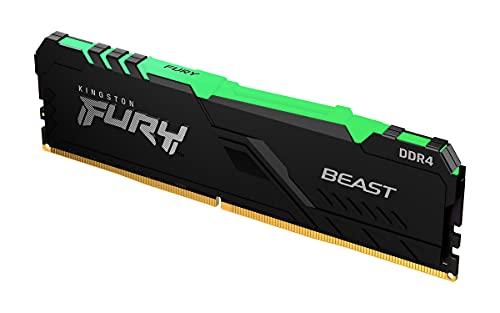 Kingston FURY Beast RGB 32GB 3600MHz DDR4 CL18 Mémoire Kit pour PC Module Simple KF436C18BBA/32
