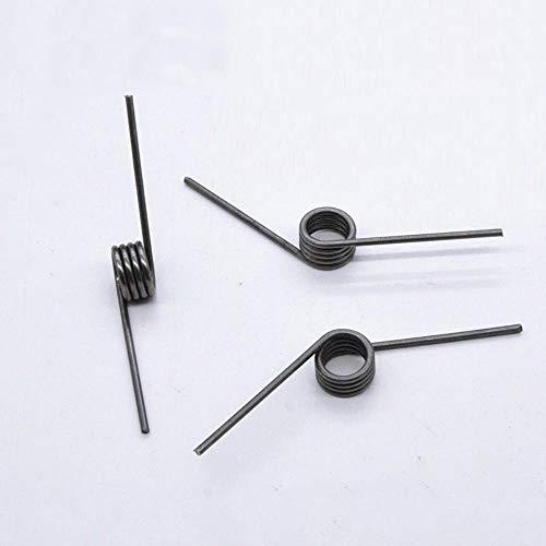 Miner Torsionsfeder Stahl Hochfester V-förmiger Drahtdurchmesser 2,0 mm Außendurchmesser 14,7 mm Winkellänge 40 mm Torsionsfedern