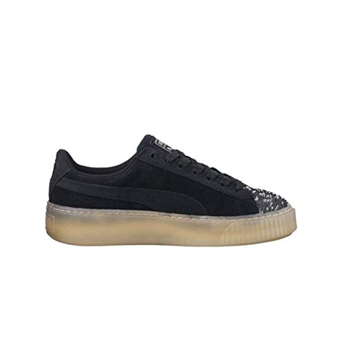 Puma Suede Platform Pebble Wn's Sneakers Nero CAUCCIU' 365464-04 - 36, Blu