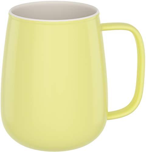 amapodo Taza de café grande de porcelana con asa, 650 ml, XXL, para oficina, color amarillo, regalo para mujeres y hombres