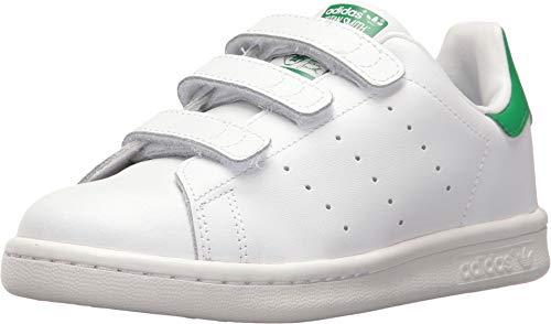 adidas Originals Stan Smith CF C - Scarpe per bambini, unisex, multicolore (Ftwr White/Ftwr White/Green), taglia 34