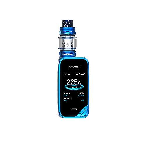 Smok X-priv 225W TC Mod Kit de pantalla completa con TFV12 Prince Tank Kit completo de cigarrillo electrónico de 8 ml - Sin tabaco ni nicotina (Prisma azul)