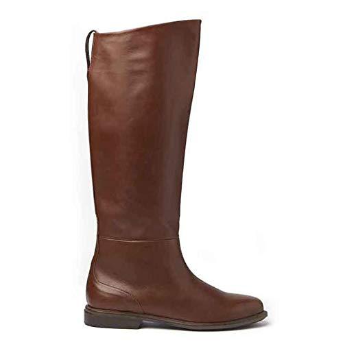 Vic Matiè laarzen, kleur cognac op lederen vloer, 1T6776D, T06CSSB433