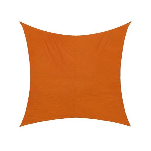 jarolift Sonnensegel Quadrat, Wasserabweisend, Sonnenschutz Sichtschutz für Terrasse Garten Balkon, Polyestergewebe, 500 x 500 cm, Orange