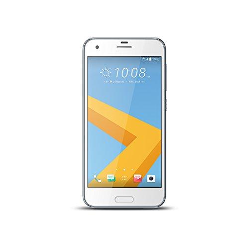 HTC ONE A9S Smartphone 12,7 cm (5 Zoll) Display (32GB, Nano SIM, Fingerabdruck-Sensor, 4G LTE, 13MP Hauptkamera, 5MP Frontkamera, Android) aqua silber