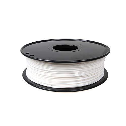Hello Alte Prestazioni Filamento for Stampante 3D Filamento in Nylon PA6 1,75/3,0 mm 1 kg (Tre Colori) Due specifiche Utilizzato per Stampante 3D e Penna Stampa 3D (Color : 3.0mm White)