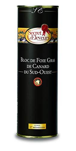 Secret dEleveurs Bloc de Foie Gras de Canard du Sud Ouest 850 g