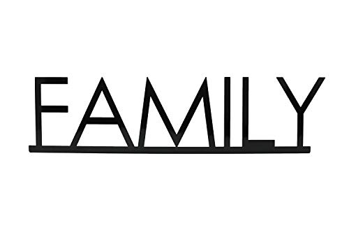 Creative Home and Garden Metal Art Family Sign Mantle Decor for Fireplace, Tabletop, or Shelf Decor. Shelf Decorations for Living Room, Home, Kitchen, Table, Shelves, Countertops, and Cabinets.