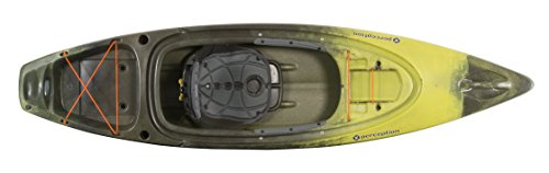 Perception Sound 9.5 | Sit Inside Kayak for Fishing and Fun | Two Rod Holders | Large Rear Storage | 9' 6' | Sea Spray