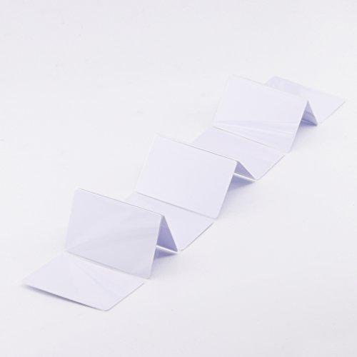 20 X Tarjetas de identificación de PVC imprimibles por inyección de Tinta Funciona con Las impresoras de inyección de Tinta Epson y Canon, CR80 30 MIL, Grueso y Impermeable Material-TimesKey