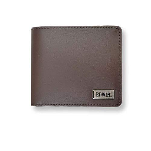 【全3色】 EDWIN エドウィン ウォレット 二つ折り 財布 (チョコ)