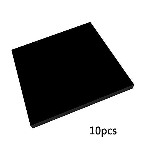 IQQI Kunststoff Acrylic Sheet Cast Plexiglas Acrylglasplatte 100X150mm Stärke: 3mm,5mm Quadratisches Brett Für Schilder DIY Fertigkeit Anzeige Projekte Schwarz,100x150x3mm