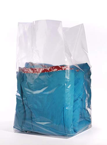 APQ Pack of 100 Jumbo Gusset Bags 30 x 26 x 60. Extra Large Plastic Expandable Bags 30x26x60. Thickness 2 mil. Clear Polyethylene Bags for Industrial, Foodservice, Health Needs.