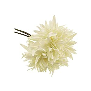 Crafty Capers 27cm Dahlia – 3 Short Artificial Fabric Flower Stems
