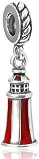 J&M Dangle Princess Lighthouse Tower Charm Bead for Charms Bracelets