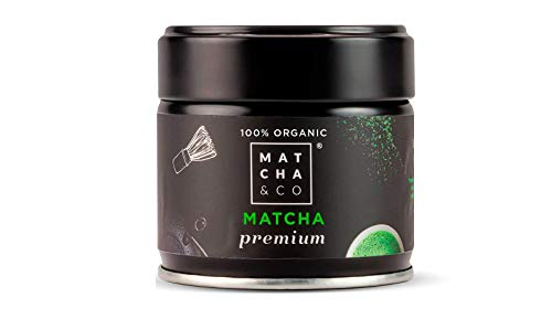 Matcha & CO Matcha Premium 100% Biologique | Poudre de thé Vert Biologique du Japon | Thé Matcha de qualité cérémonielle Bio (30 g)