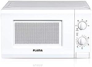 Flama Microondas Blanco 1817FL, 700W, Capacidad de 20L, 5 Programas Automáticos, Función de Descongelación