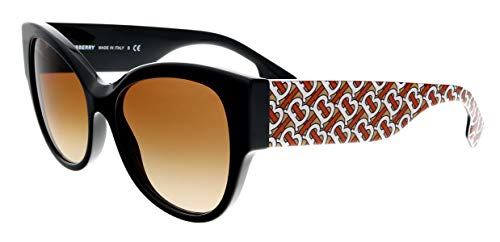 BURBERRY Gafas de Sol B HER BE 4294 BLACK RED/BROWN SHADED 54/17/140 mujer
