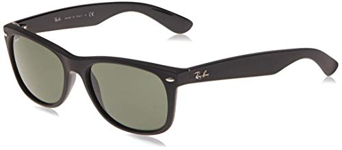 Ray-Ban New Wayfarer Color Mix RB2132-646231-58 Gafas, Negro, 58 Unisex Adulto