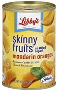 Libby's Skinny Fruits No Sugar Added Mandarin Oranges Sweetened with Sucralose 15oz Can (Pack of 6)