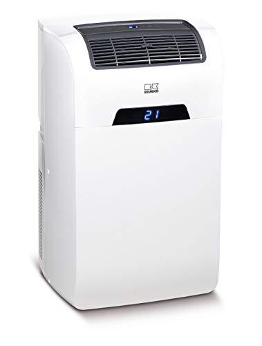 Remko 1601240 SKM 240 - Climatizzatore, forma compatta, 3 livelli di ventilazione, indicatore LED, potenza di raffreddamento 2,4 kW, con telecomando, colore: Bianco