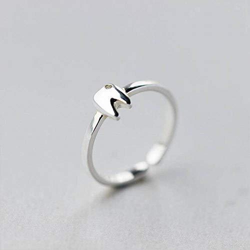Katylen S925 Silberring Weiblicher Persönlichkeit Diamant Kleiner Zahnring Einfacher Zeigefinger, Offener Ring einstellbar