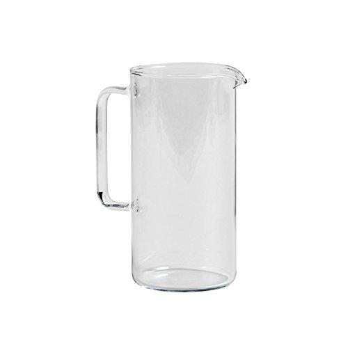 HAY Kitchen Market glazen kan H 19,5cm / Ø 9,5cm / 1L transparant