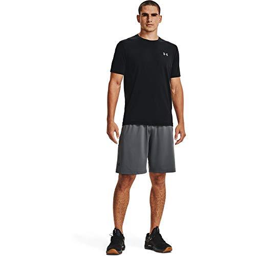Under Armour Men's Raid 2.0 Workout Gym Shorts , Pitch Gray (012)/Black , X-Large
