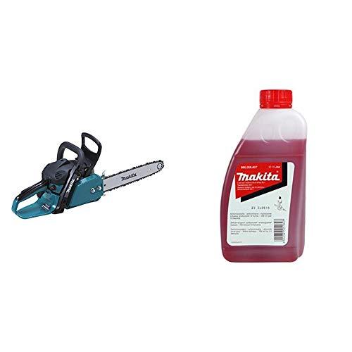 Makita Benzin-Kettensäge 40 cm, EA3200S40B & 980008607 Motoröl 2-Takt 1L 50:1