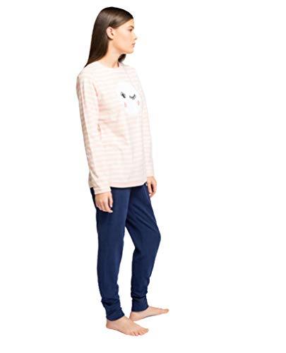 Pijama Largo Micropolar Luna (L, Rosa)