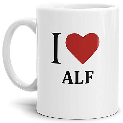 Tasse mit Spruch/Motiv/Design - Kaffeetasse Teetasse Mug Cup I Love Alf - Qualität Made in Germany