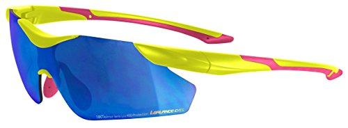 PONTAPES(ポンタペス)× L-BALANCE(エルバランス) 全18タイプ スポーツ サングラス 男女兼用 ハードケース付き LBR-PN YL/PK/BL Fサイズ スポーツ グラサン ミラーレンズ UVカット ランニング ジョギング ミラーレン