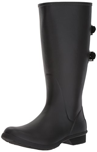 Chooka Womens Wide Calf Memory Foam Rain Boot, Black, 8