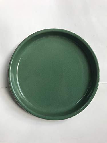 K&K - sottovaso rotondo per vaso Venus II, con o senza manico, 28 x 20 cm, Ø 23 cm, colore: Marrone fiammato in gres (ceramica di alta qualità)