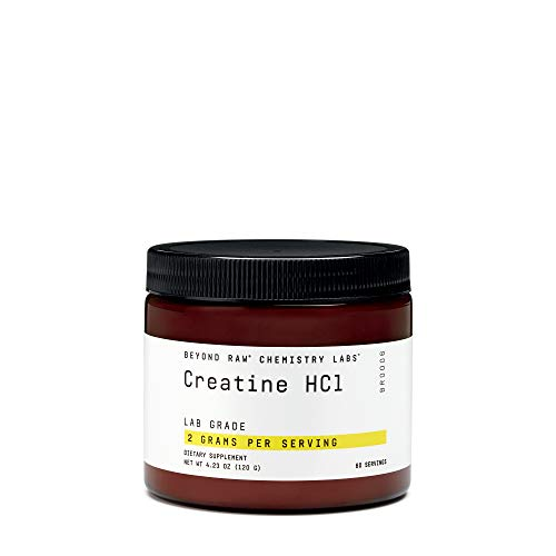 Beyond Raw Chemistry Labs Creatine HCl, 60 Servings, Improves Muscle Performance