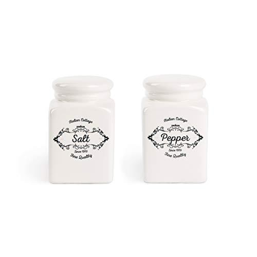 Excelsa Salz- und Pfefferstreuer, Keramik, Weiß, 2 Stück