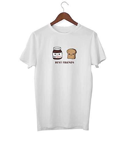 Best Friends BFF Nutellla Butter Bread Mix_KK015907 Shirt T-Shirt für Männer Herren Tshirt for Men Gift for Him Present Birthday Christmas - Men's - Small - White