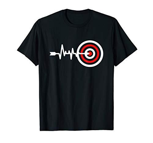 Bogenschießen Herzschlag Shirt Männer Bogenschütze Lustig T-Shirt