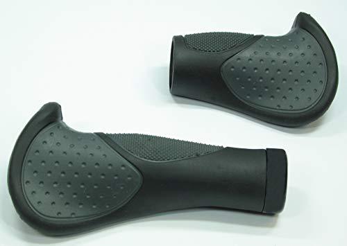 CBK-MS®. Fahrradgriffe Deluxe kurz/lang ergonomisch geformt beugt einem Ermüden der Hände vor - Lenkerklemmung ~ für Fahrräder mit Drehgriffschaltung