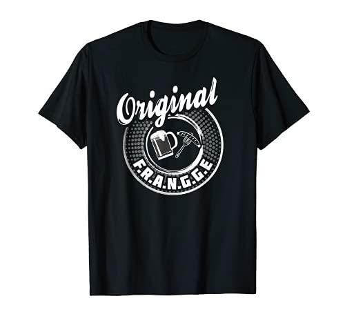 Franken Spruch - Original Frangge mit Bratwurst und Bier T-Shirt