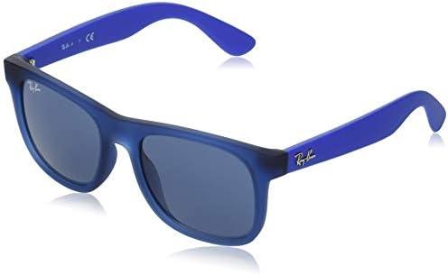 Ray Ban unisex child Rj9069s Sunglasses Rubber Transparent Blue Dark Blue 48 mm US product image